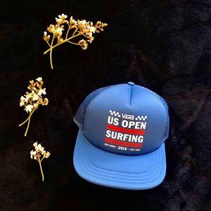 7515148a054 Blue Vans US Open Trucker Hat